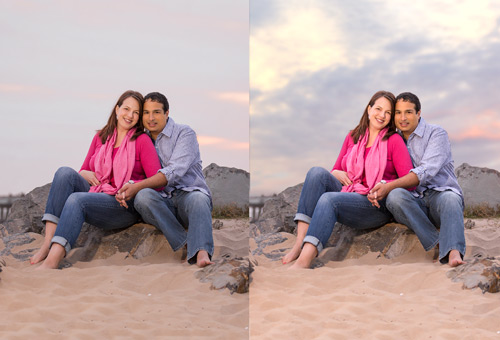 Photo-Retouching: Replace Sky in Photo
