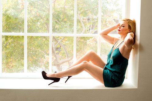 Los Angeles Boudoir Photographer - Woman in Window