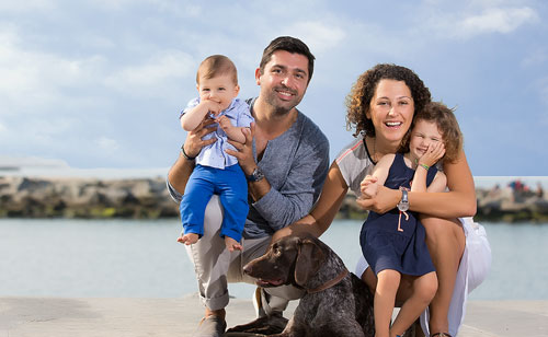 Marina Del Rey Photographer - Four and Dog by the Jetty
