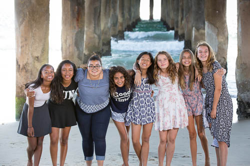 Manhattan Beach Family Photographer - 12 Year Old Girl and Friends