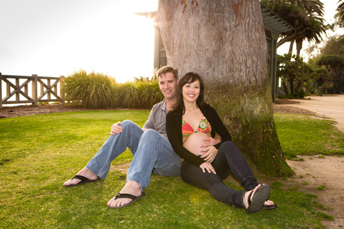 Santa Monica Maternity Photographer - Sitting in Palisades Park