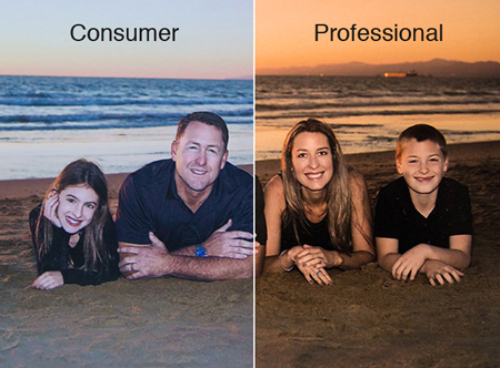 Consumer vs Professional Photography