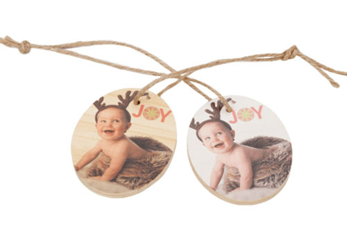 Custom Photo Bamboo Ornament Two