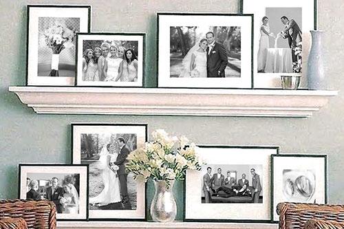 Matted Framed Prints on Shelf