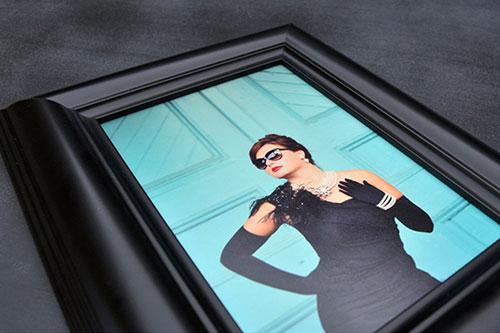 Black Mounted Framed Print