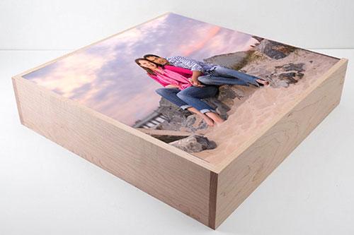 Custom Photo Wood Box Cover