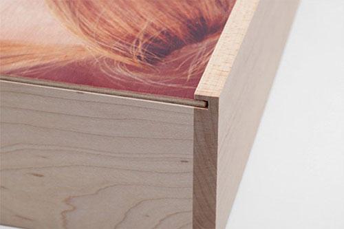 Custom Photo Wood Box Cover Closeup