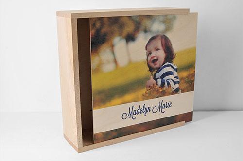 Custom Photo Wood Box Cover Upright