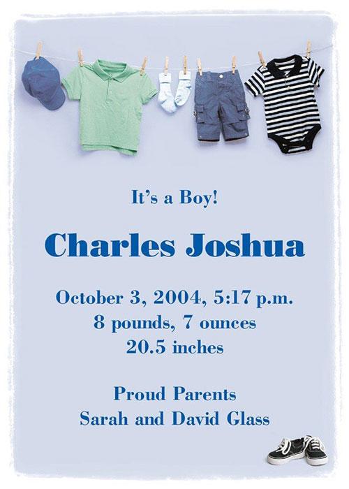Graphic Design - Baby Boy Announcment