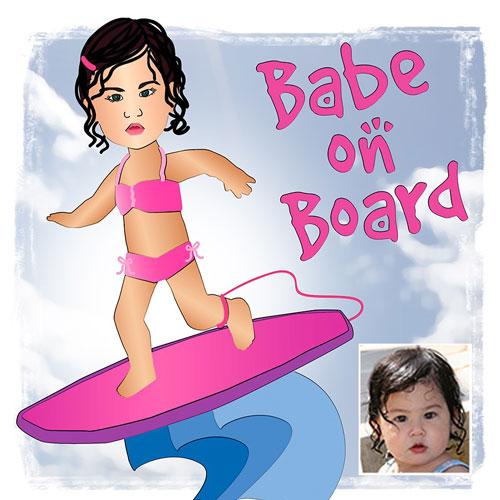Custom Surfer Girl Illusttration