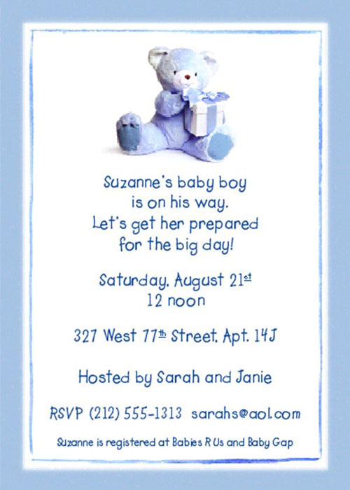 Graphic Design - Baby Shower Invitation