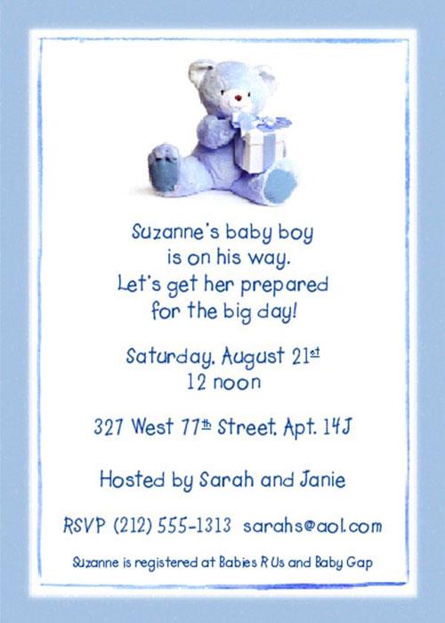 Graphic Design - Baby Shower Invitation