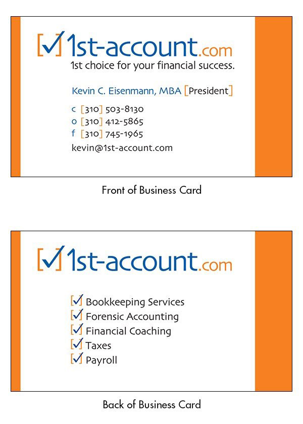 Corporate Logo Design - 1st Account Bookkeeping