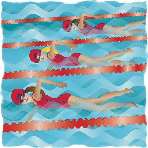 Swimming Illusttration