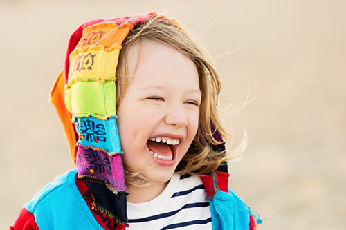 Los Angeles Photography - Laughing Girl on Beach
