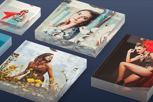 Acrylic Table Blocks for Purchase - Square