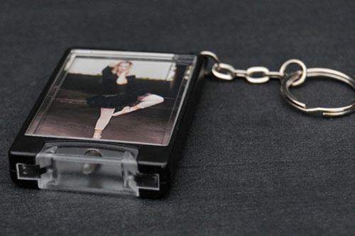 Custom Photo Flashlight Keychain
