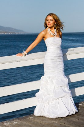 Malibu Wedding Photographer -  Bride on Pier