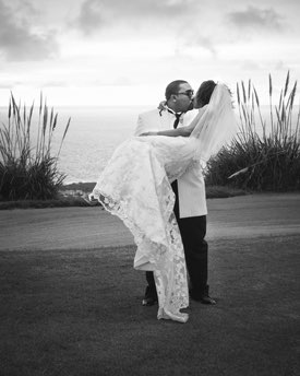 Palos Verdes Wedding Photographer -  Black and White Portrait of the Bride and Groom