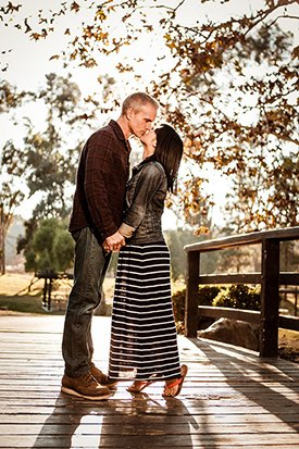 Los Angeles Couples photographer - Tip Toe Kiss