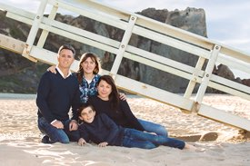 Malibu Family Photographer -  in front of Lifeguard Stand