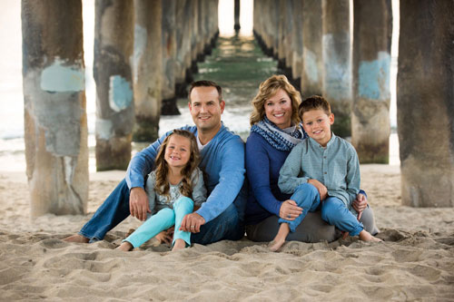 Manhattan Beach Family Photographer - Parents and Two Kids