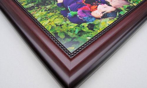 Beaded Mahogany Flat Framed Print
