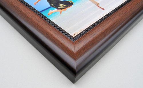 Beaded Walnut Framed Print