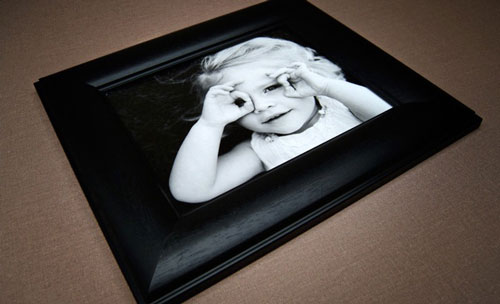 Black Curved Framed Print