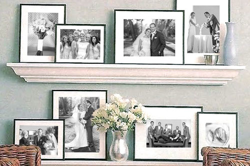 Professionally Matted and Framed Prints on Shelf