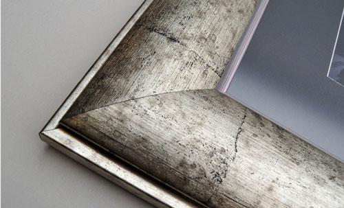 Silver Curved Framed Print