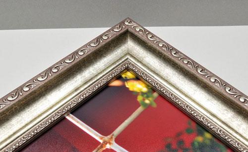 Silver Ornate Framed Print