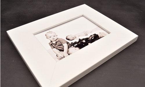 White Flat Framed Print