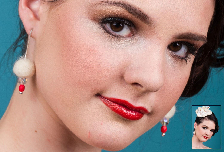 Facial Photo Retouching Young Woman before